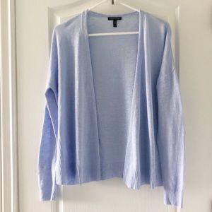 Eileen Fisher light blue cardigan light weight